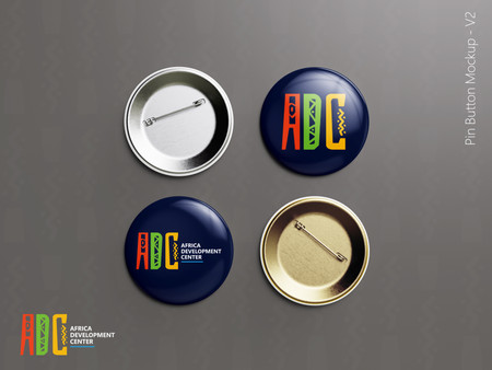 ADC branded Pin Button