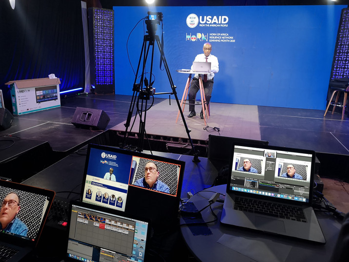 Live session of a virtual event