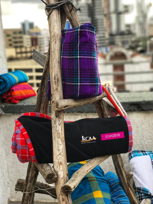 Branded Maasai shuka
