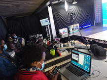 In studio tech team