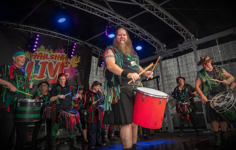 Pentacle Drummers on stage at Hailsham Live ©JTP53Photography