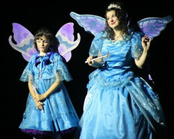 Blue fairy and baby blue