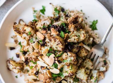 תבשיל אורז מלא וכרובית