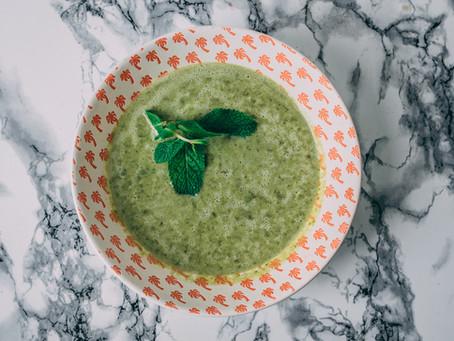 מרק ירוק וקרמי