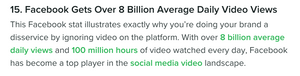 Facebook Video Stats