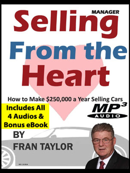 Selling From The Heart 4 Part Audio and Manager Book Set