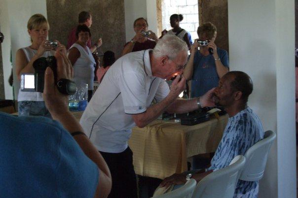 Eye exam older man jamaica