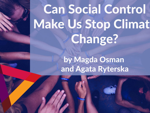 Can Social Control Make Us Stop Climate Change?