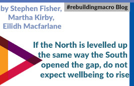 If the North is Levelled Up the Same Way the South Opened the Gap, Don't Expect Well-Being to Rise
