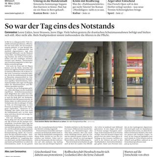 Tag 1: Notstand Frontbild: Mattia Coda; Bieler Tagblatt