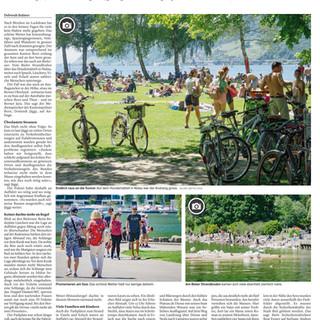 Regeln während des Corona- Sommer.  Bilder: Mattia Coda; Bieler Tagblatt
