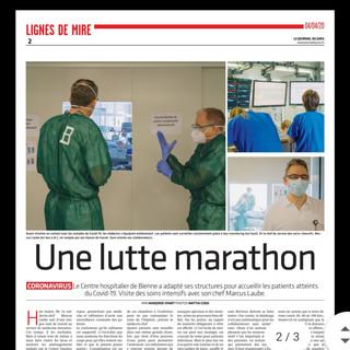 Corona Reportage: Intensivstation.  Bilder: Mattia Coda; Journal du Jura
