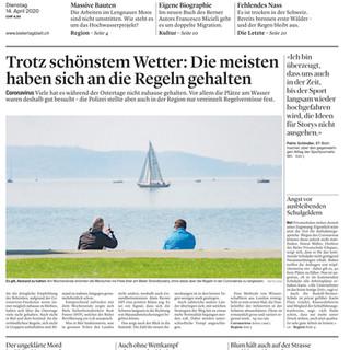 Einhaltung der Corona- Regeln. Frontbild: Mattia Coda; Bieler Tagblatt