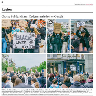 Black lives Matter Demonstration.  Bilder: Mattia Coda; Bieler Tagblatt