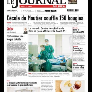 Corona Reportage: Intensivstation.  Frontbild: Mattia Coda; Journal du Jura