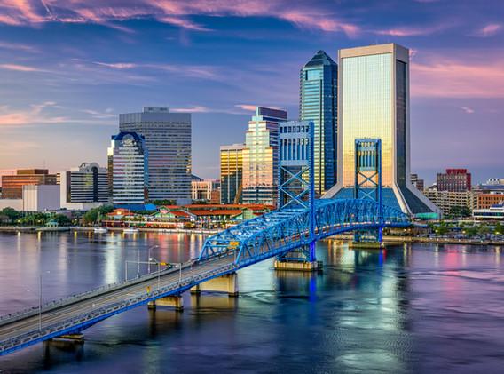 Jacksonville, Florida, USA downtown city