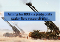 Aiming for 80% - A probability Scalar Field Research Plan by Laurentiu Bucur, Ph.D