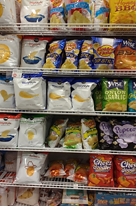 Gluten-free items in a grocery store
