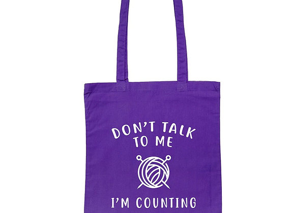 Don't Talk To Me, I'm Counting - Tote Bag