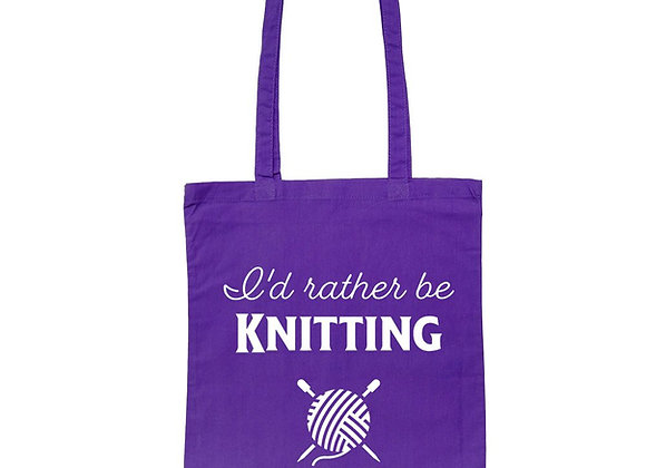 I'd Rather Be Knitting - Tote Bag