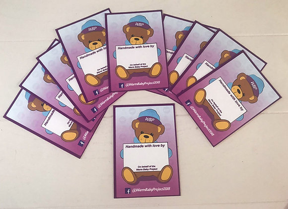 Warm Baby Project - 'Made with love' Parcel Cards