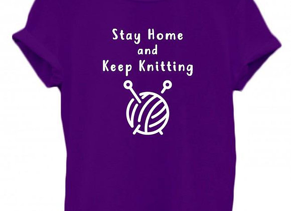 Stay Home And Keep Knitting - WBP T-Shirt