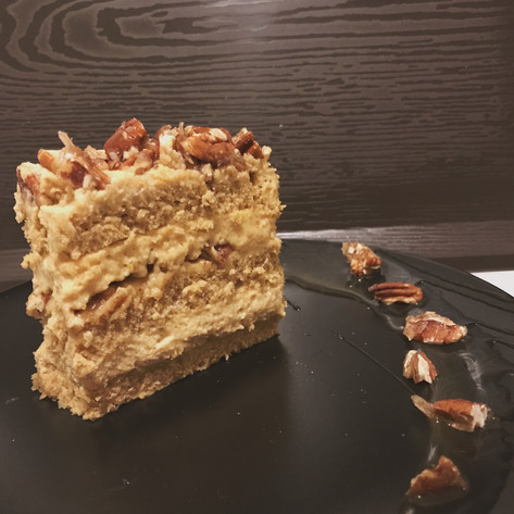 Caramel Walnut Coffee Cream Cake