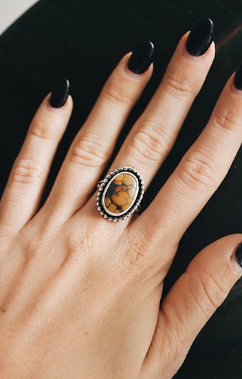 Yellow Turquoise Ring