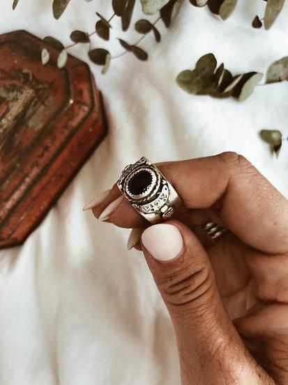 Southwestern Black Onyx Ring