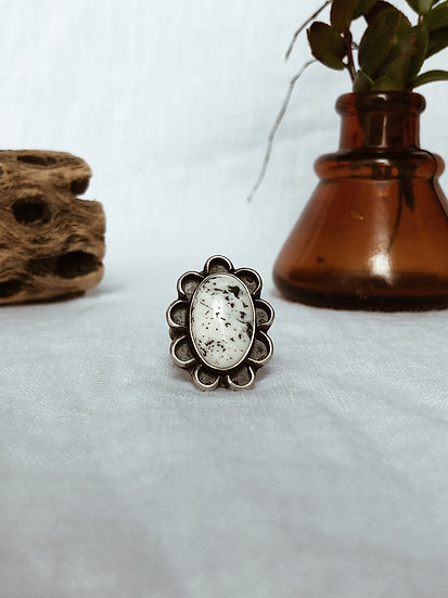 White Buffalo + Sterling Silver Ring I