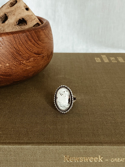 White Buffalo + Sterling Silver Ring II