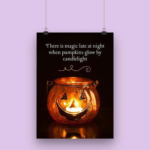 Halloween Jackolantern Poem Wall Art