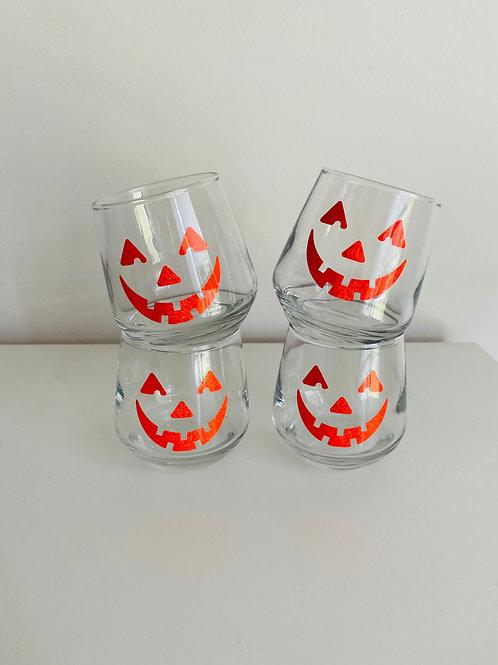 Mini Pumpkin Wine Glasses (4)