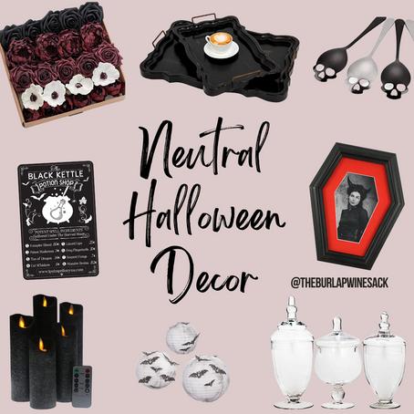 Neutral Halloween Decor Ideas on Amazon - October 2021