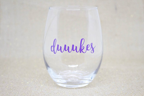 Duuukes II Stemless Wine Glass