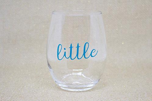 I Love My Little Stemless Wine Glass