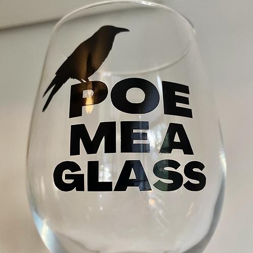 Edgar Allan Poe Stemmed Wine Glass