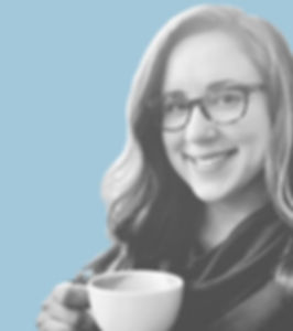 Johannah Miller drinking coffee