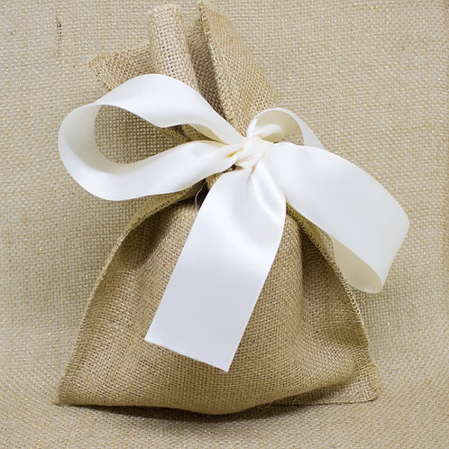 Burlap and Satin Gift Wrap
