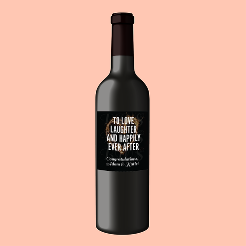 Wedding or Engagement Gift Wine Label