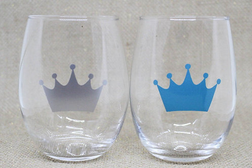 Symbolic Stemless Wine Glass Duo (More designs available!)
