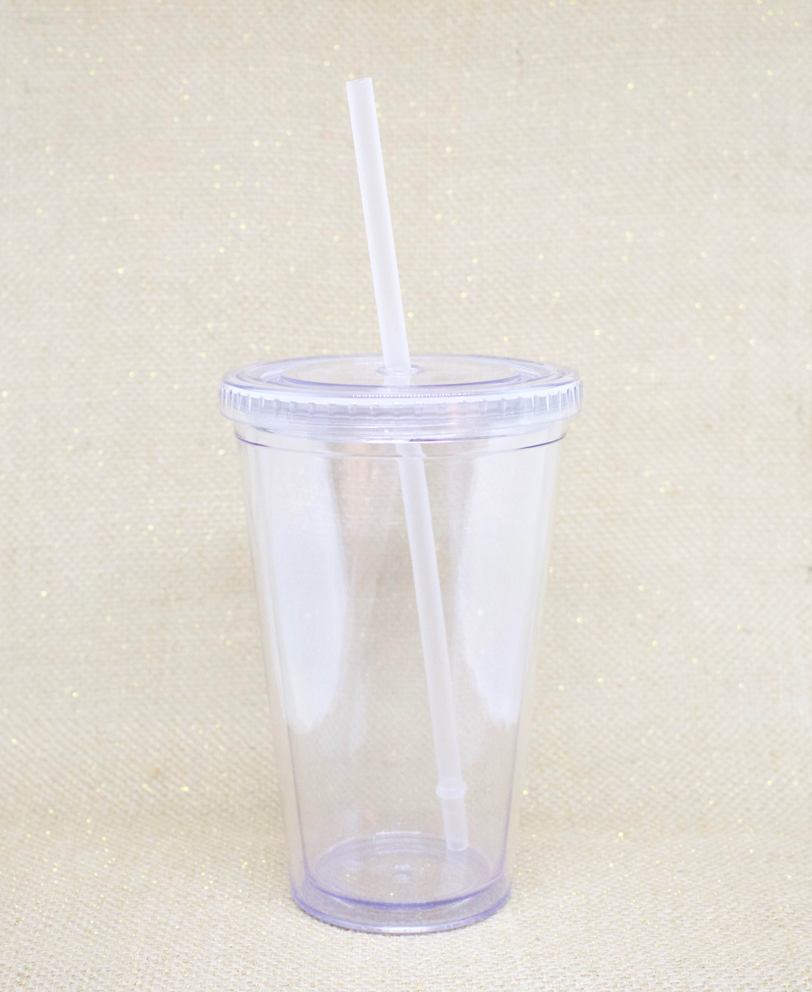 Customizable Clear Plastic Tumbler