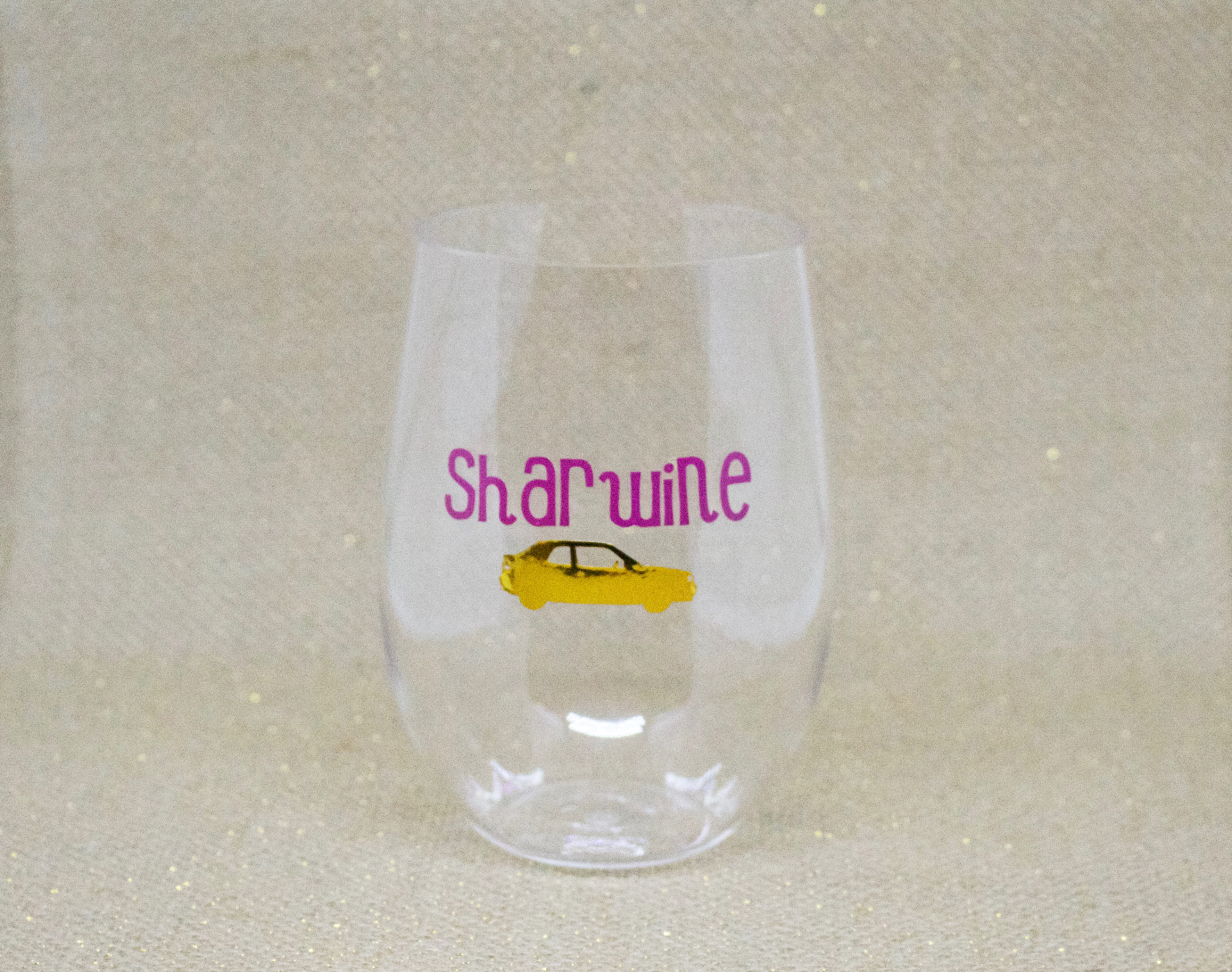 Customized unbreakable wine glass