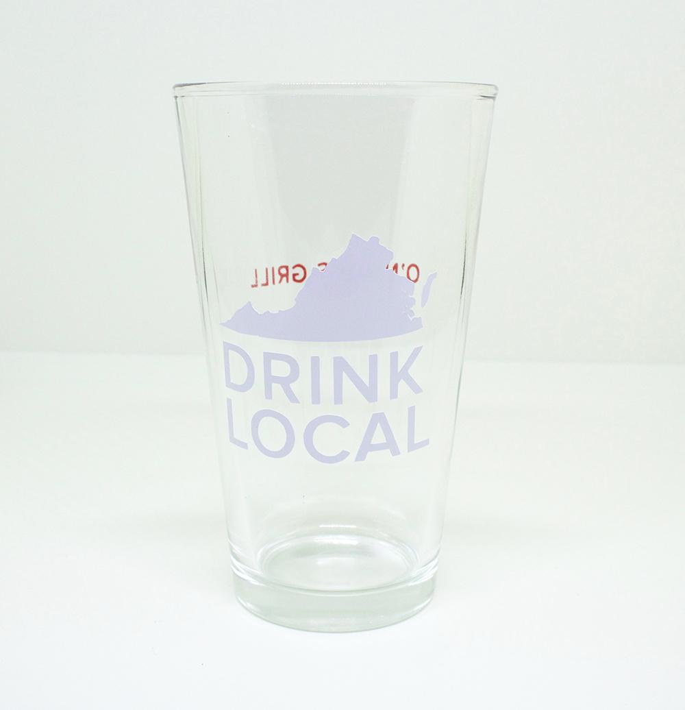 Custom bar glasses for a restaurant
