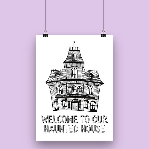 Haunted House Wall Art