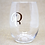Thumbnail: Initial Stemless Wine Glass