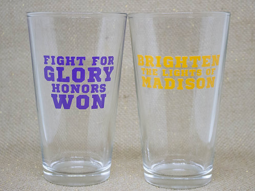 Fight Song Pub Glasses