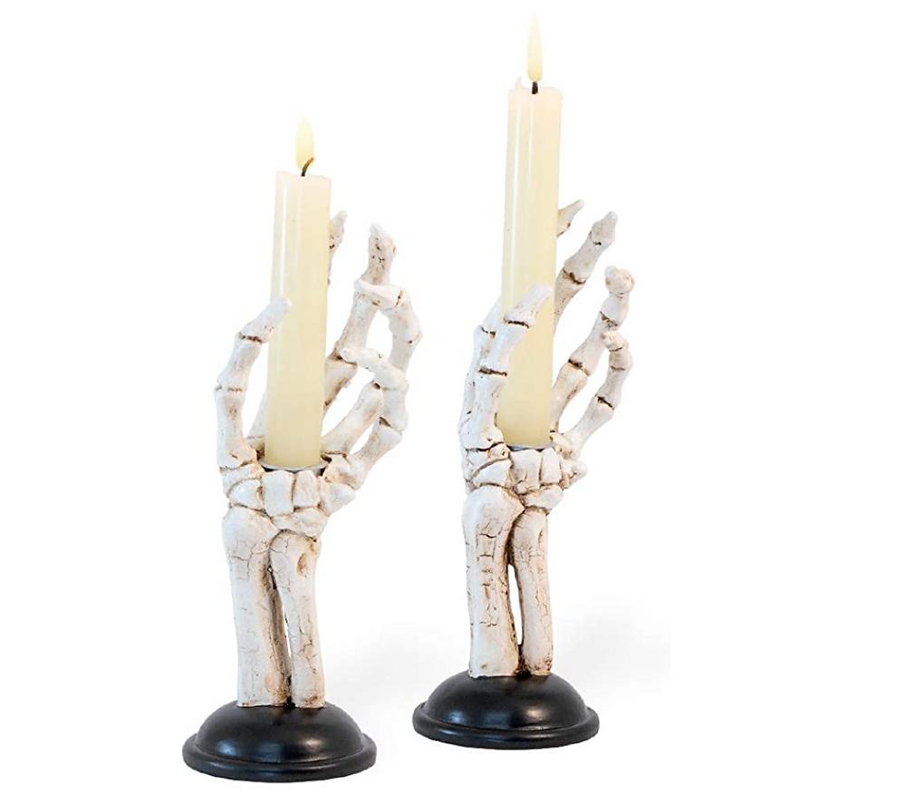 skeleton candle stick holders