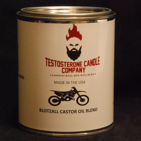 Blotzall Blotzall Castor Oil Motocross scented Pint Sized wood wick Candle