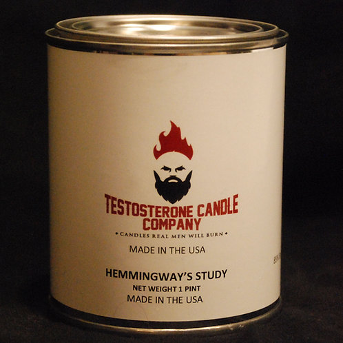Hemmingway's Study Pipe Tobacco, Vanilla, Blueberry & Planking wood wick candle